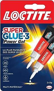 Loctite Super Glue-3 Power Gel, colle forte enrichie en caoutchouc, colle gel ultra-résistante, à séchage immédiat, colle ...