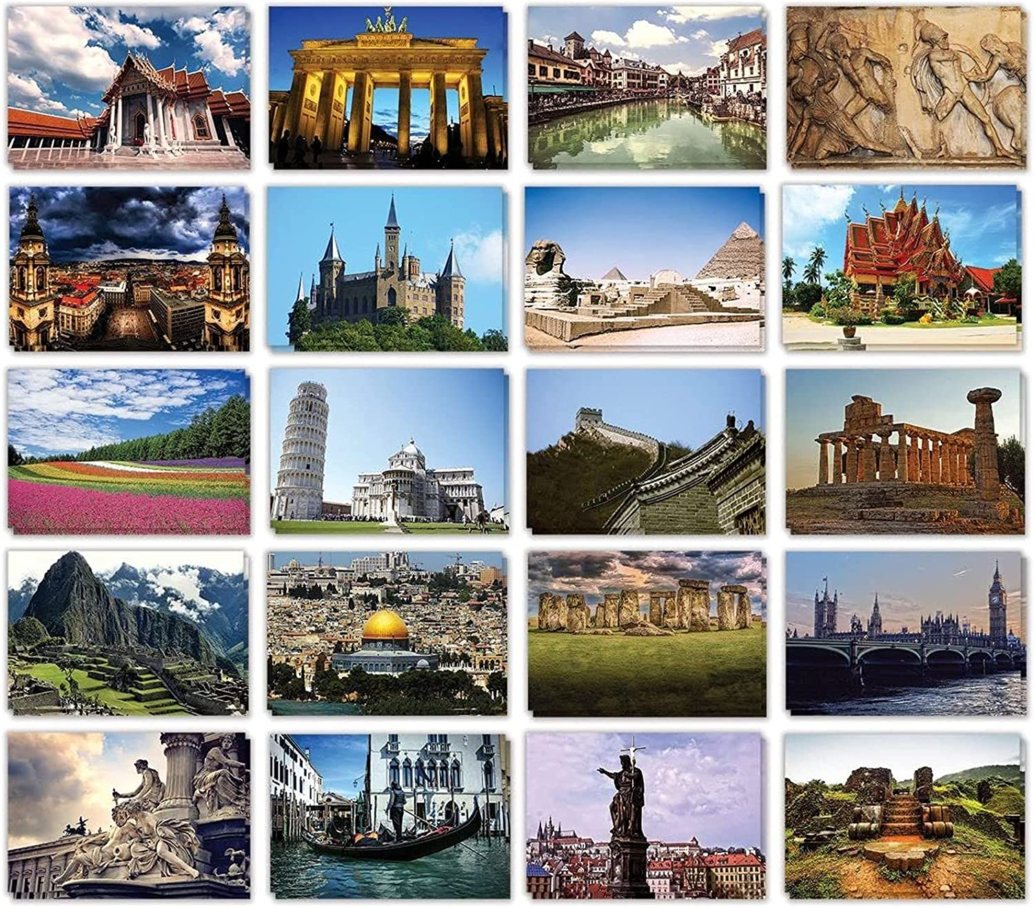 40 Pack Choice Assorted Travel Postcards in Around Designs Spring new work one after another The 20 Worl