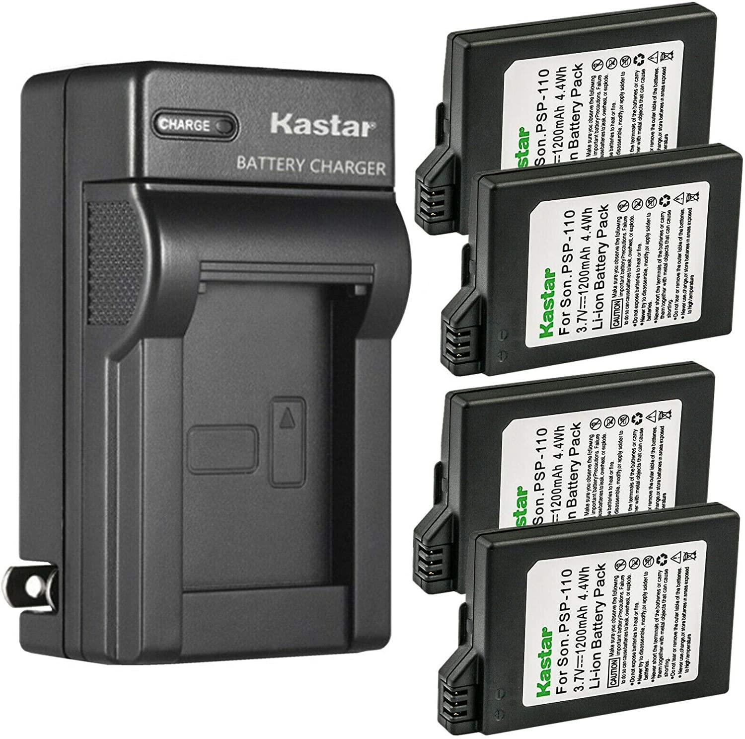 Kastar 4-Pack Outstanding Battery and Chicago Mall AC Wall for Charger Replacement P Sony