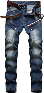 Men's Fashion Ripped Jeans with Patches
