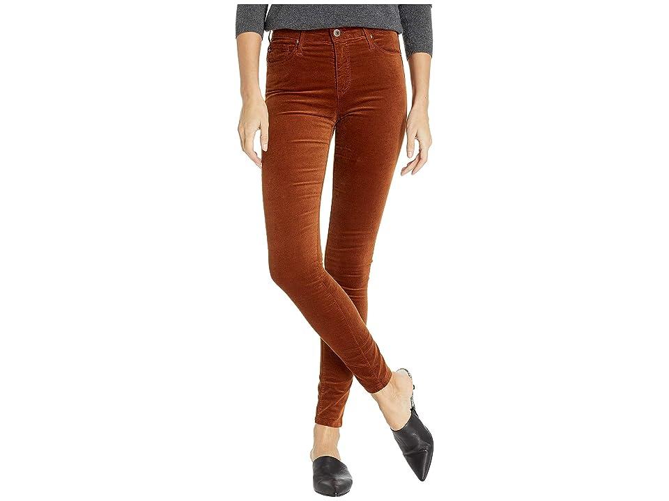 Image of AG Adriano Goldschmied Farrah Skinny in Cognac (Cognac) Women's Jeans