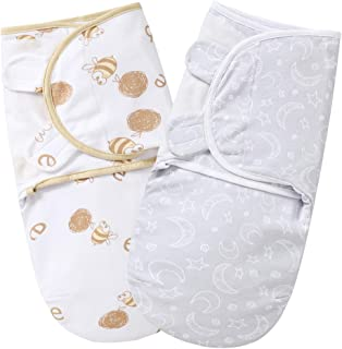 MioRico Preemie Swaddles to 7 lbs, Swaddle Wraps 0-3 Months, Swaddle Blankets for Premature Baby, 0.5 TOG for 4-Season, Adjustable & Stretchy Organic Cotton Swaddling Blanket, Newborn Essentials