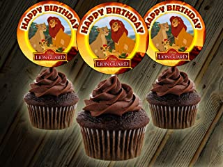 12 Happy Birthday LION GUARD Inspired Party Picks, Cupcake Picks, Cupcake Toppers