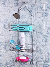 Zahab Bathroom Shower Caddy with Multipurpose Shelf and Storage Organiser with Two Layers, Soap Dish and Hook