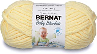 Bernat Baby Blanket Yarn, 3.5 oz, Gauge 6 Super Bulky, Baby Yellow