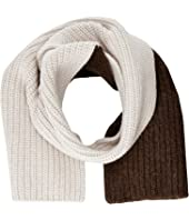 MARNI - Asymmetrical Color Detail Rib Scarf