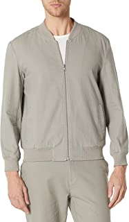 Isle Bay Linens Men's Outwear Full-Zipper Regular Lightweight Stylish Bomber Jacket