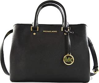 Savannah Saffiano Leather Large Satchel Crossbody Bag Purse Handbag