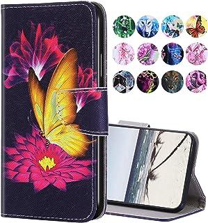 URFEDA Compatibel met Samsung Galaxy S10, leren telefoonhoes, portefeuille, beschermhoes met bont patroon, fliphoes, stand...