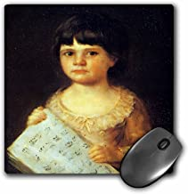 3dRose BLN Music Featured in Fine Art Collection – Portrait of a Yung Girl Holding Sheet Music by Francisco Jose de Goya – MousePad (mp_175460_1)