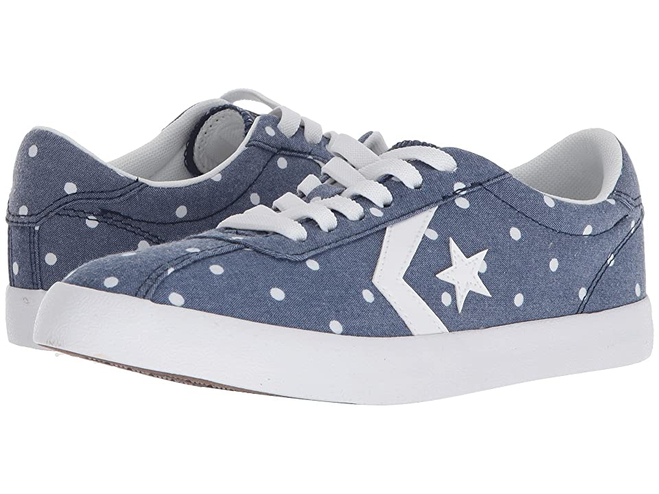 Converse Kids Breakpoint Dots Ox (Little Kid/Big Kid) (Navy/White/White) Girls Shoes