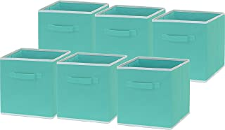 turquoise storage cubes