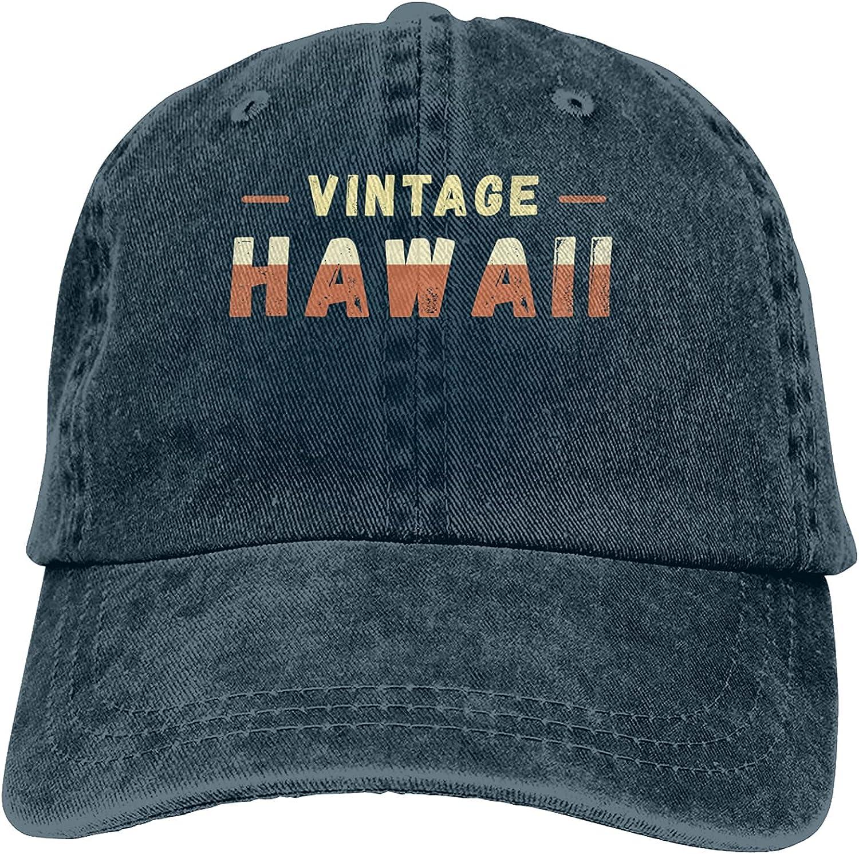 Vintage Hawaii Baseball Cap Trucker Hat Retro Cowboy Dad Hat Classic Adjustable Sports Cap for Men&Women Navy