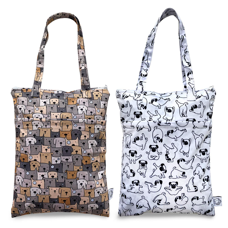 FLOCK Brand Cheap Sale Quantity limited Venue THREE 2pcs Wet Dry Reusable Waterproof Bag Clothe Tote