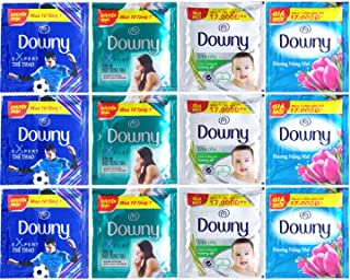 Downy アジアンダウニー 柔軟剤 お試しセット 小分けサイズ アソート 4種類 12袋入り ファミールコレクション