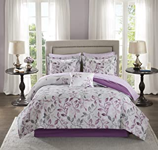 Madison Park Essentials Cozy Bed In A Bag Comforter with Complete Cotton Sheet Set-Trendy Floral Design All Season Cover, ...