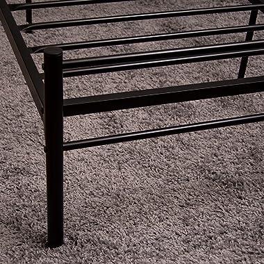 Vida Designs Dorset Lit, Noir, Métal, 4ft6 Double, Black, H 96 x W 50 x D 17,5 Cm Approx