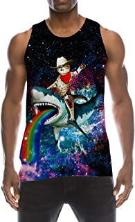 94162603b12fe8 TUONROAD Mens 3D Graphic Printed Tank Top Cool Muscle Sleeveless Tees Gym  Workout Shirt