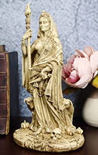 Ebros Gift 異教徒 ウィッカ 神 ヘカテ像 ギリシャの女神 魔女クラフト & ネクロマンシー ヘカテ She-Dogs 装飾置物 トリプル女神 フォーム フェミニズムシンボル彫刻 (アイボリーベージュ)