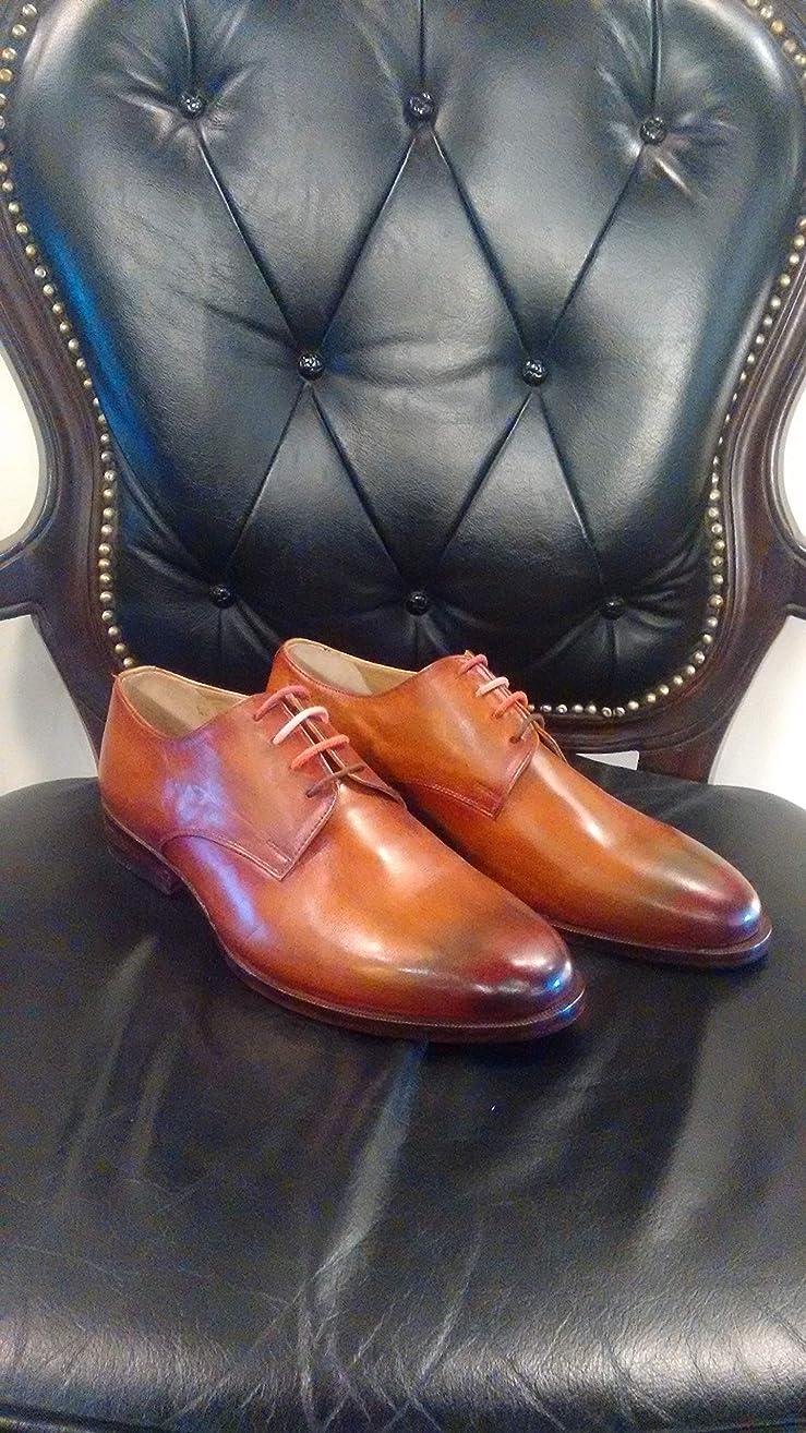 Handmade Cognac Patina Oxfords For Men Custom Made Shoes for Men