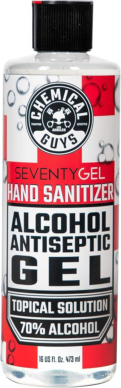 Chemical Guys HYG10316 San Antonio Mall SeventyGel Hand Alcohol Sanitizer Max 43% OFF Ant 70%