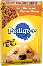 Pedigree Chopped Ground Dinner Adult Wet Dog Food Pouches, 3.5 oz.