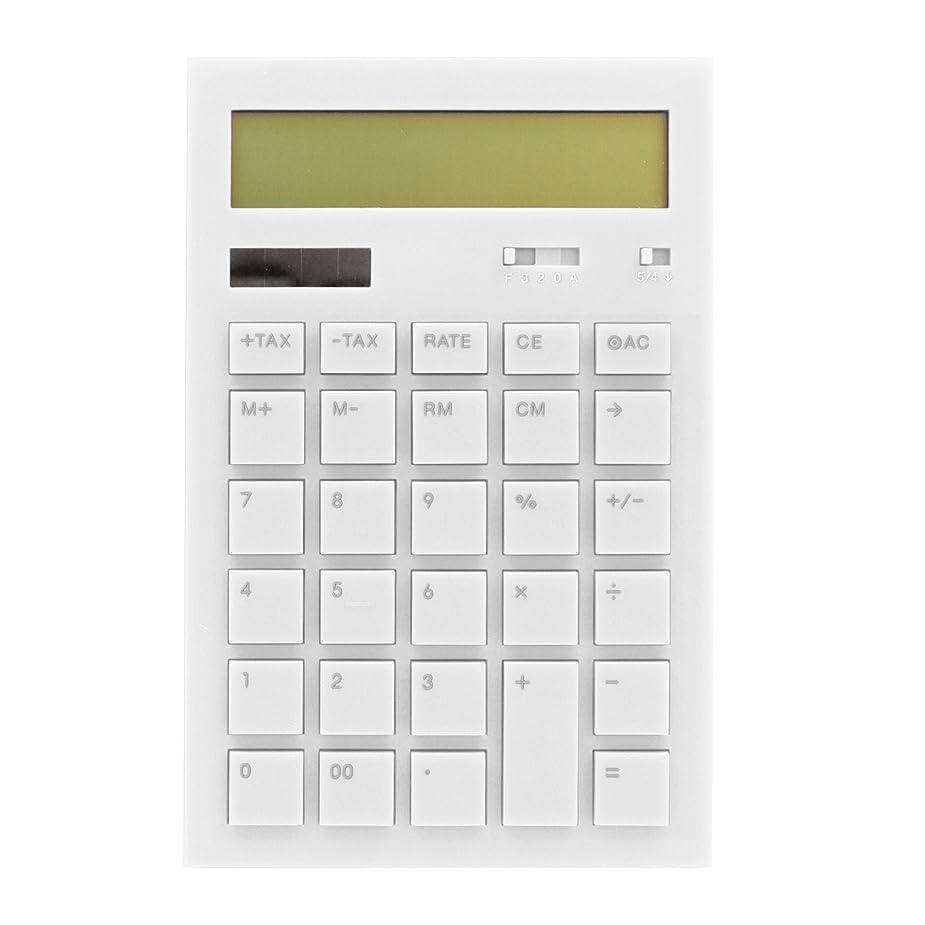 承認アーカイブシャッター12桁デジタルデスクカリキュレーター【ホワイト】 DP116 WH