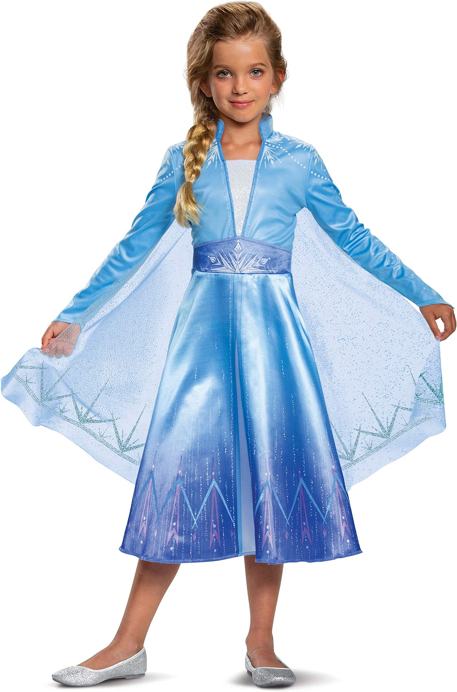 Elsa fifth spirit Frozen 2 cosplay costume for girl disney Halloween outfit kid sparkling dress princess photo prop outfits white gown
