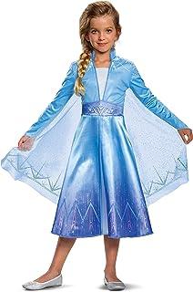 Disguise Disney Elsa Frozen 2 Deluxe Girls' Halloween Costume (Medium, 8-10)