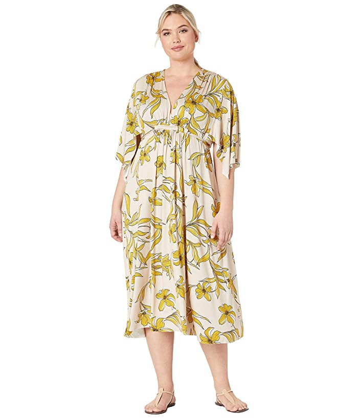 Rachel Pally Plus Size Mid-Length Caftan Dress (Striped Lily) Women's Dress