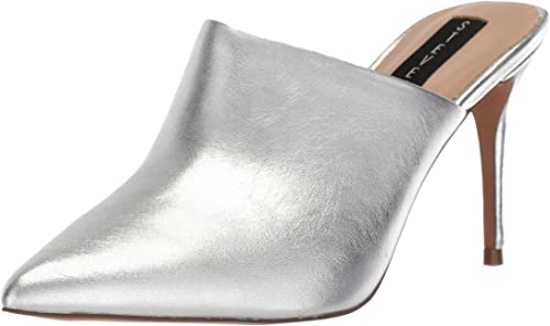STEVEN by Steve Madden Wohommes Craft Mule, argent Leather, 7.5 M US