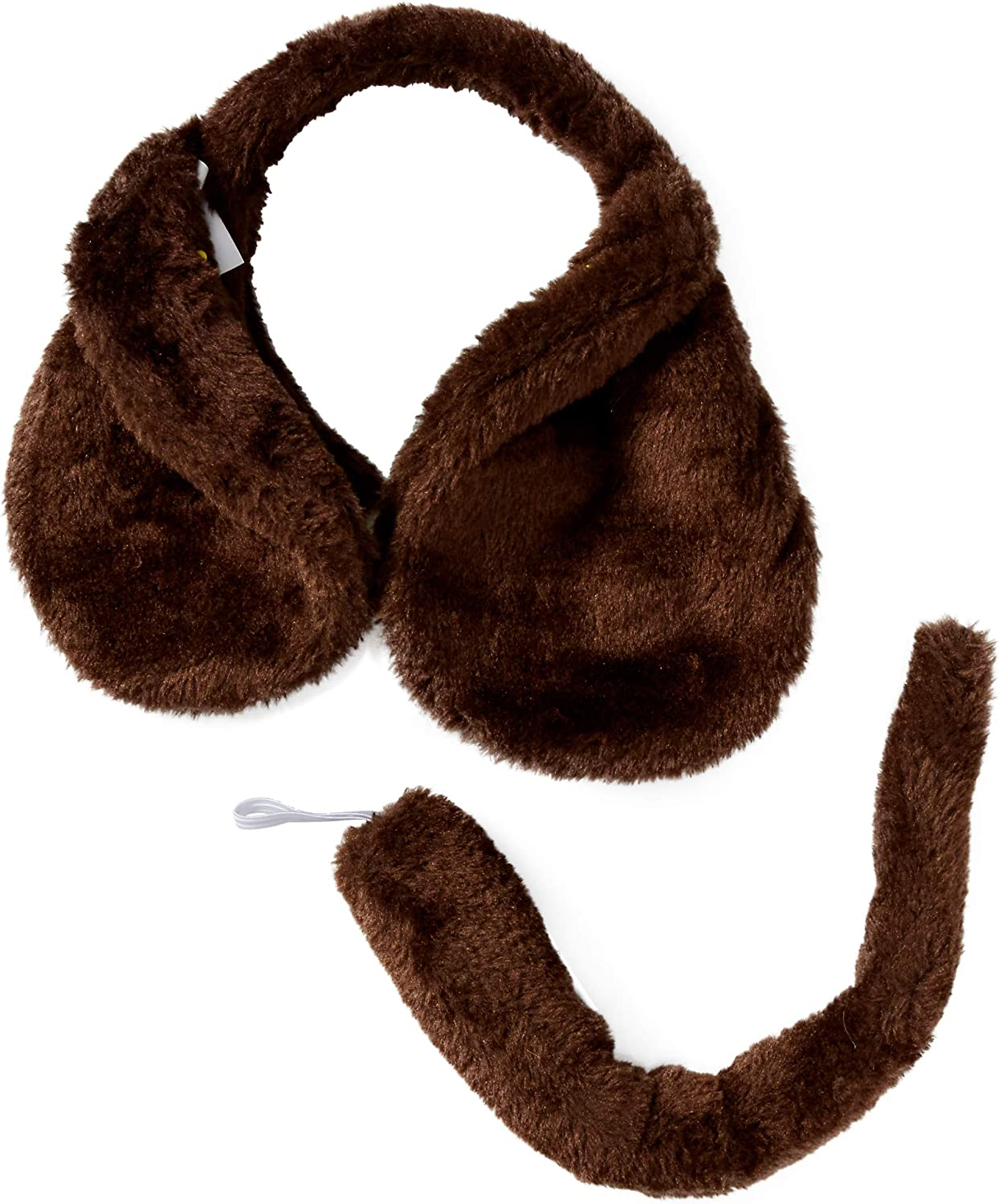 Child Dog Ears On Headband and Tail Set Fancy Dress Costume Accessory Adult