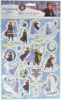 notebooks Disney Frozen 2 Puffy 3D Sticker Sheet Elsa Anna Kristoff Sven Olaf
