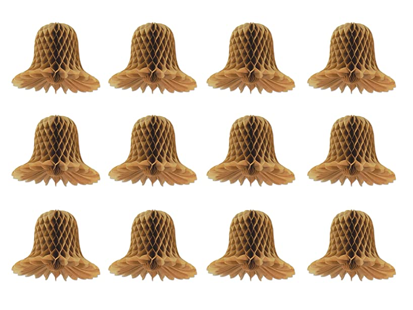 Beistle 59877 12 Pieces Kraft Paper Bells, 5