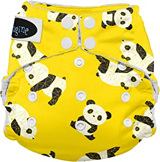 Imagine Baby Products Stay Dry All-in-One Snap Diaper, Panda Fold