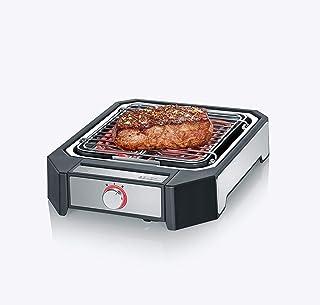 SEVERIN PG 8545 Steakboard (2 300 W, max. 500 °C, 2 effektnivåer, grillyta 23 x 25,5 cm) svart