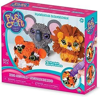 The Orb Factory Zoo Animals 3D Multi Mini Arts & Crafts, Brown/Orange/Grey/White/Black/Yellow, 10