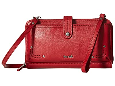 The Sak Iris Large Smartphone Crossbody (Scarlet) Cross Body Handbags
