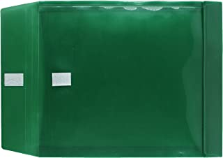 JAM Paper Plastic Expansion Envelopes with Hook and Loop Closure - Letter Open End Size (9.75 x 1 x 11.75) - 12 Color Envelopes per Pack Green