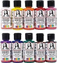 Monalisa acrylverf set, 10 kleuren 40 ml., penseel, voor schilderen op hout, steen en canvas, voor kinderen, hobbyschilder...