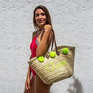 wedding Personalized bridesmaid beach bag bridal Bachelorette and Maid of Honor Basket Straw Monogrammed beach bag