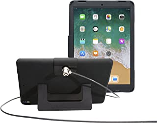 CTA Digital: Security Case with Kickstand and Anti-Theft Cable for iPad Air 3 (2019) and iPad Pro 10.5, Black