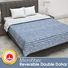 Divine Casa Twilight Polka Dot 110 GSM Microfibre All Weather Double Dohar - Blue and White