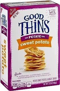 Nabisco, Good Thins, 3.75oz Box (Pack of 4) (The Potato One - Sweet Potato)