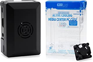 LoveRPi Active Cooling Media Center PC Case with Fan for Raspberry Pi 3 Model B+, Libre Computer Board, ASUS Tinker Board (Black)