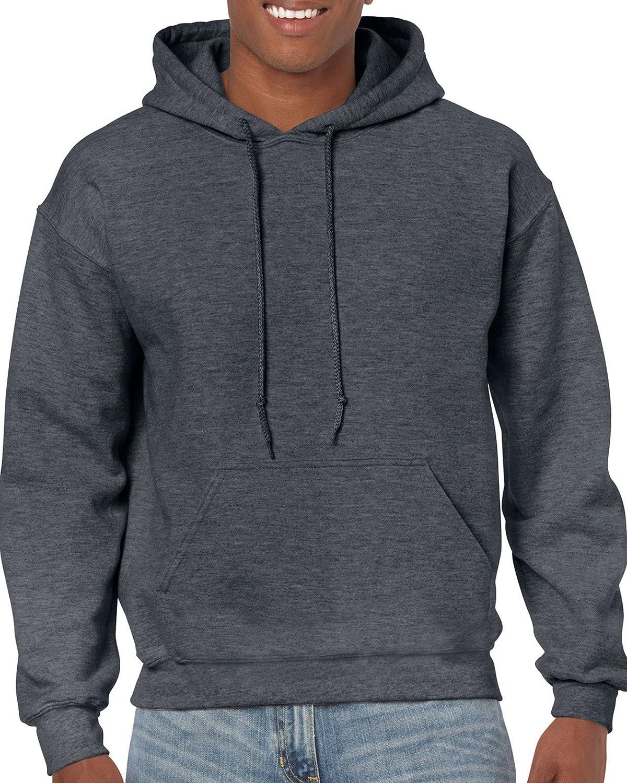 Gildan Men's Fleece Hooded Sweatshirt, Style G18500 at  Men's Clothing store