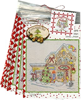 Gingerbread Square Christmas Full Set by Meg Hawkey From Crabapple Hill Studio #2521 - 9 Embroidery Patterns