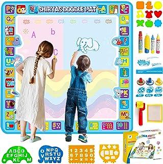 Shiryas Extra Large 100X100 CM Aqua Magic Water Doodle Mat ألعاب الأطفال Water Drawing, Coloring and Doodling Mat for Todd...