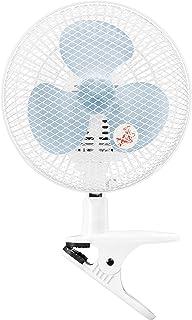 山善 扇風機 18cm クリップ式 卓上 壁掛け 対応 スライドスイッチ 風量2段階切替 ブルー YCS-C188(A)