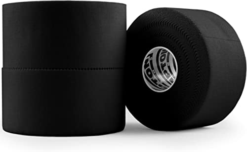 (3 Pack) Black Athletic Tape - 45ft Per Roll - No Sticky Residue & Easy to Tear - for Sports Athletes & Crossfit Trai...